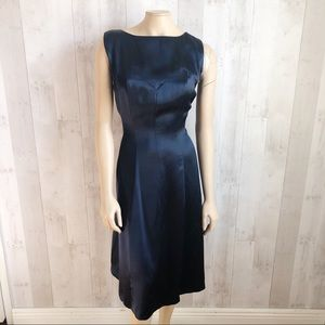 [Brooks Brothers] Navy Blue 100% Silk Sheath Dress